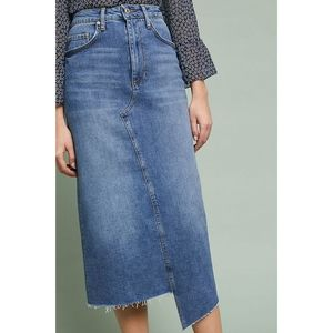 Anthropologie Pilcro Denim Midi Skirt NWT Size 12